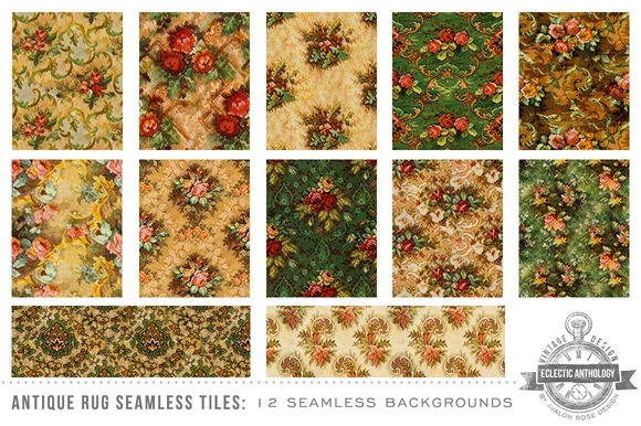 Antique Floral Seamless Tiles