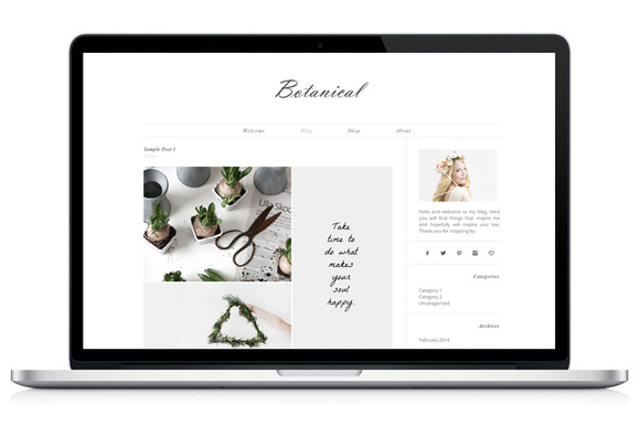 Wordpress Theme Botanical