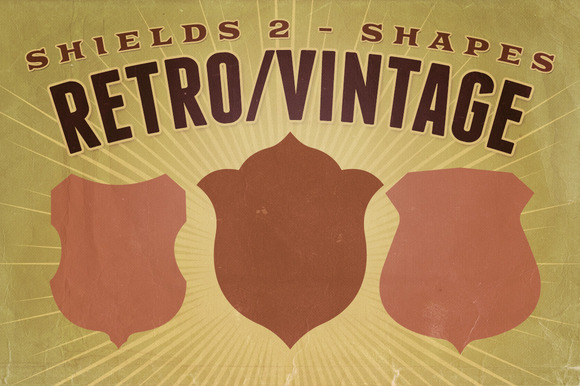 Retro Vintage Shapes Shields 2