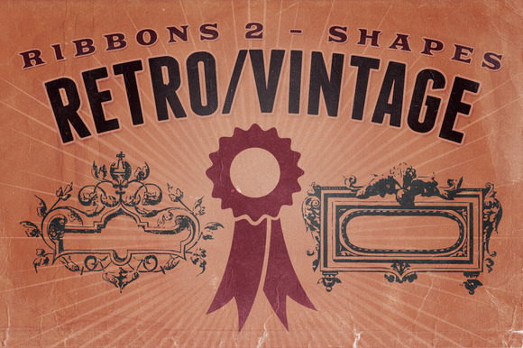 Retro Vintage Shapes Ribbons 2