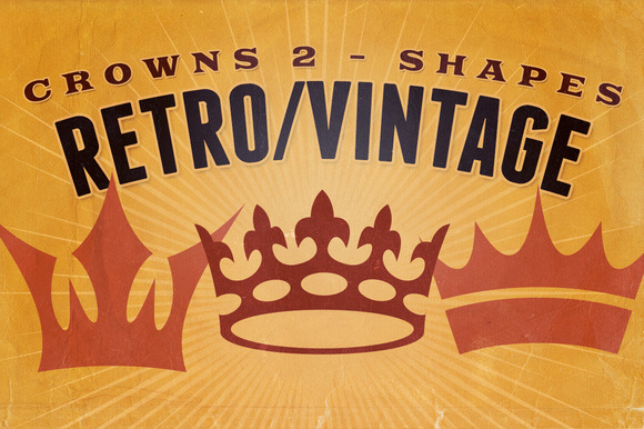 Retro Vintage Shapes Crowns 2