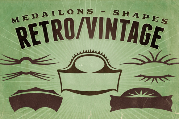 Retro Vintage Shapes Medailons