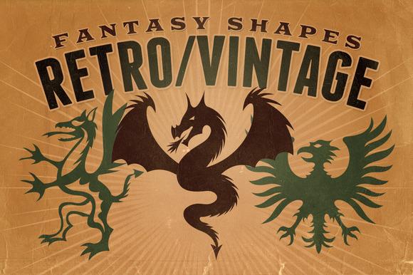 Vintage Shapes Fantasy Heraldry
