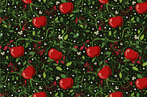 Seamless Pattern Apples