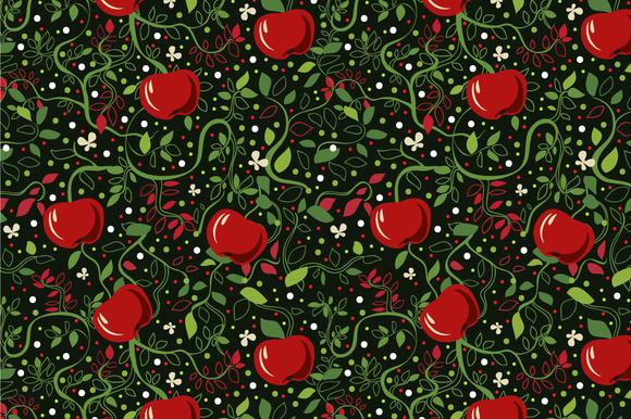 Seamless Pattern Apples
