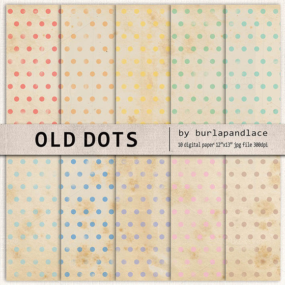 Old Paper Dots Digital Paper