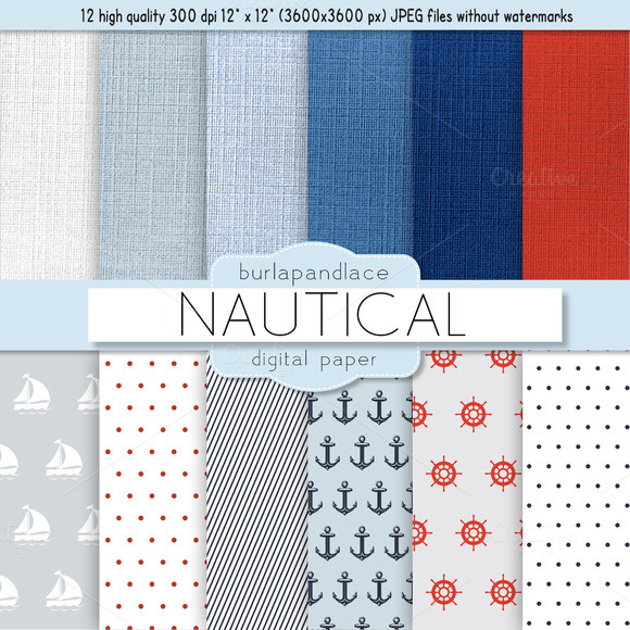 Nautical Digital Paper
