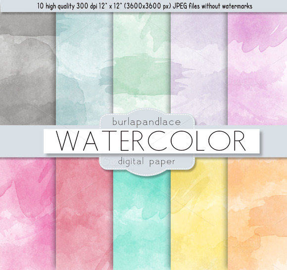 Watercolor Digital Paper