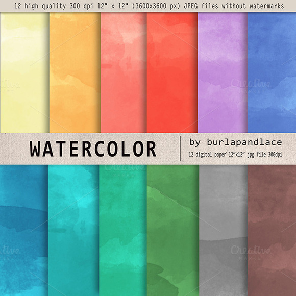 Watercolor Digital Paper II