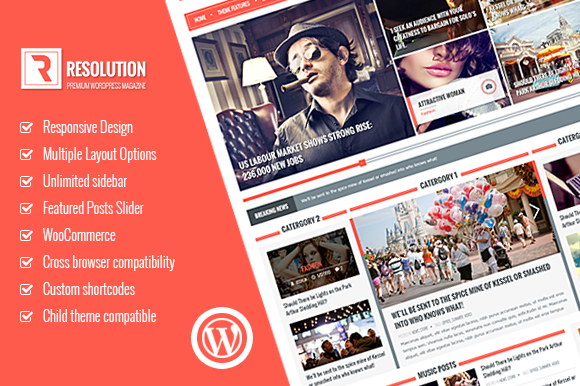 Resolution Multi Purpose WP Theme