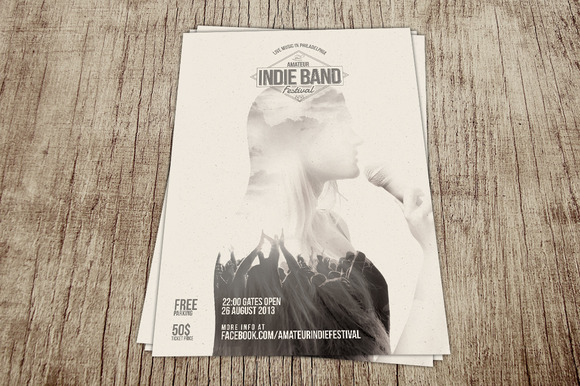 Amateur Indie Band Festival Flyer