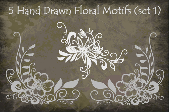 Hand Drawn Floral Motifs
