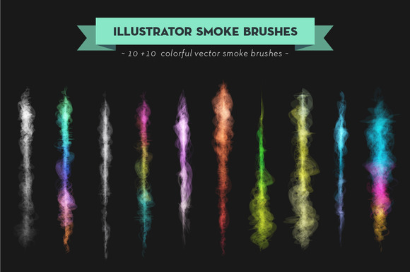 Vector Colored Smoke Brush