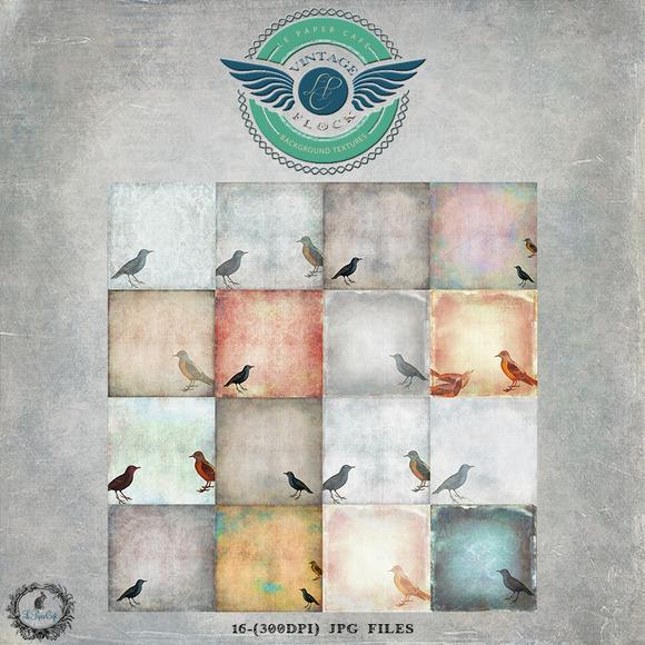 Vintage Flock Bird Backgrounds