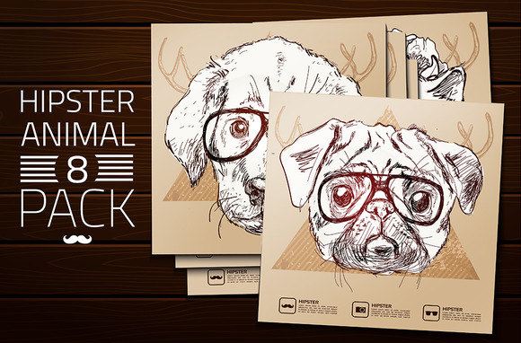 Hipster Animals Set 2