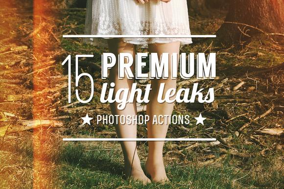 15 Premium Light Leak Actions