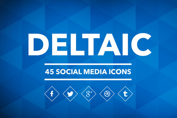 Deltaic 45 Social Media Icons