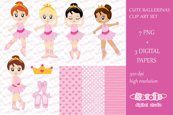 Ballerinas Clip Art Set