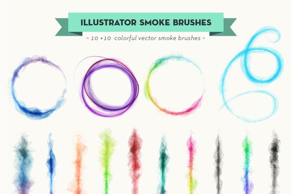 Vector Smoke Brush Set