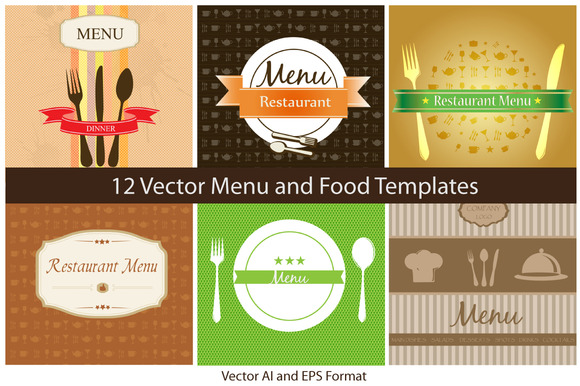 Vector Menu And Food Templates
