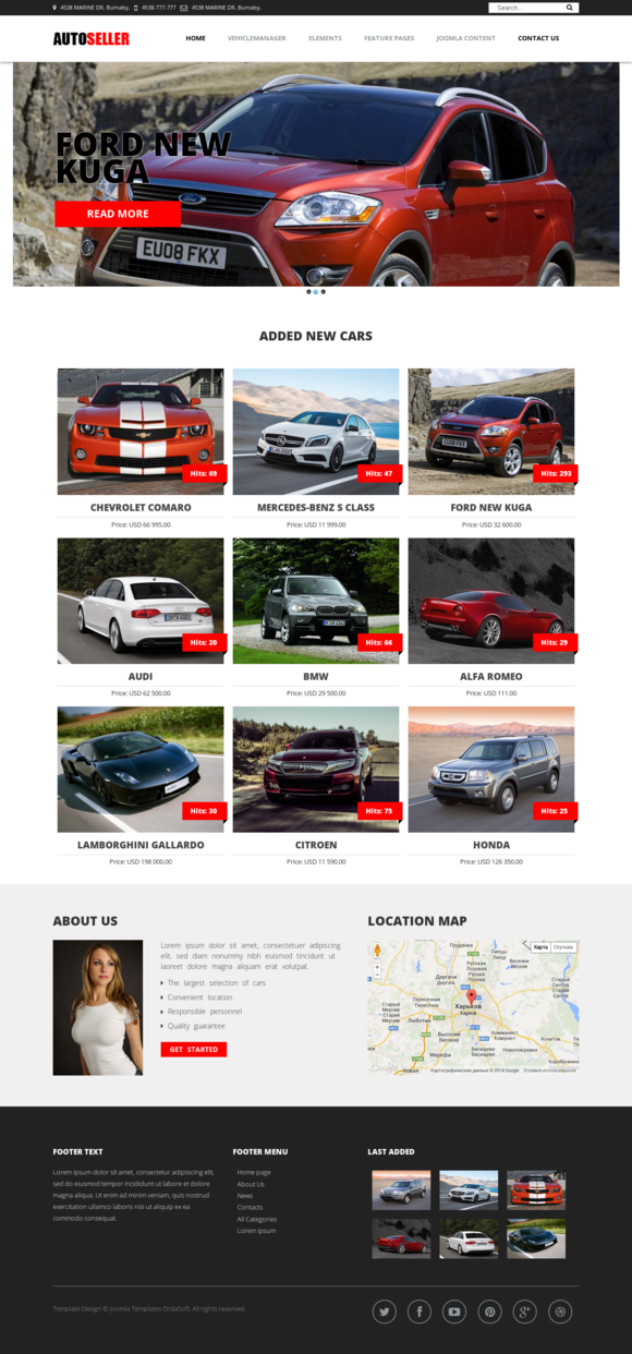 OS Autoseller Car Dealership Theme
