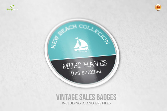 Vintage Sales Badges