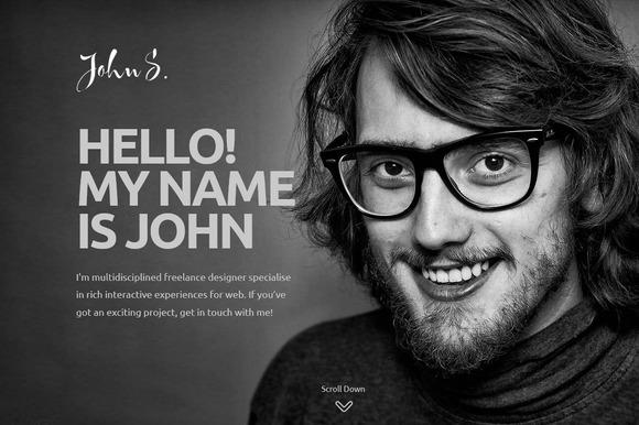 John One Page Portfolio Theme