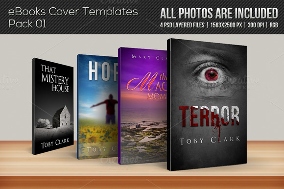 4 EBook Cover Templates Pack 01