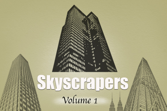 Skyscrapers- Vector Brush Set