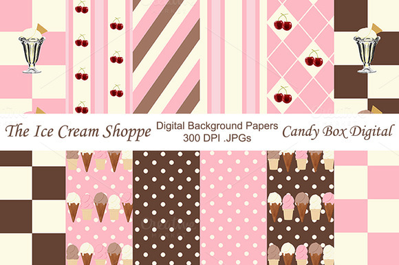 Ice Cream Background Papers