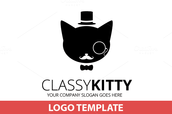 Classic Kitty Logo Template