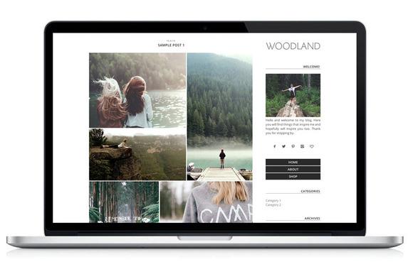 Wordpress Theme Woodland