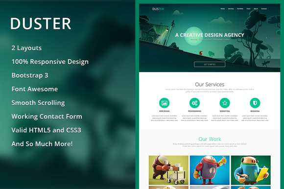 Duster Single Page HTML Template