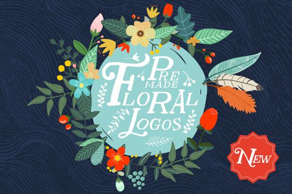 Premade Floral Logos