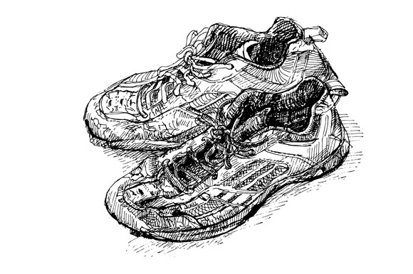 Old Badminton Shoe
