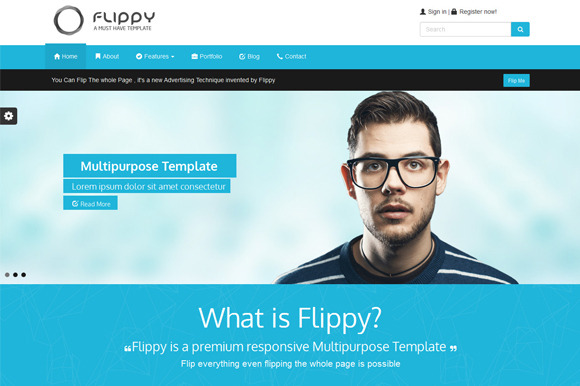 Flippy-Creative Responsive Template