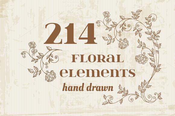 214 Retro Flowers