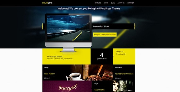 Foliogine Portfolio WP Theme