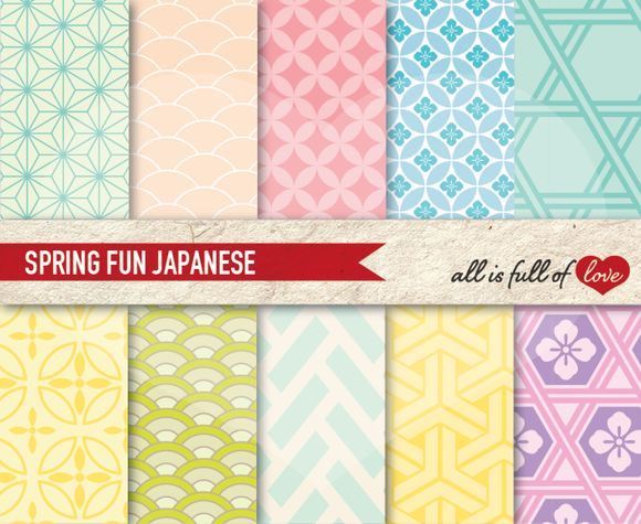 Pastel Japanese Background Patterns