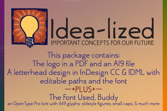 Idea-lized Logo Font Package