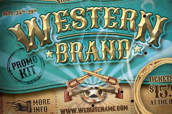 Vintage Western Brand Flyer Kit