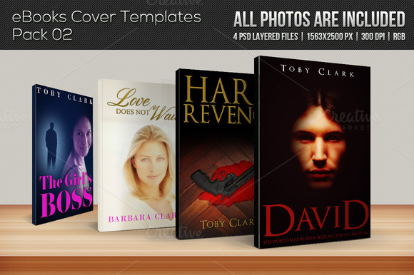 4 EBook Cover Templates Pack 02