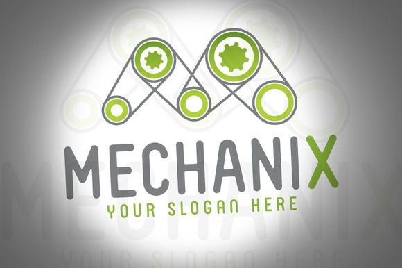 Mechanix Game Engine Logo Template