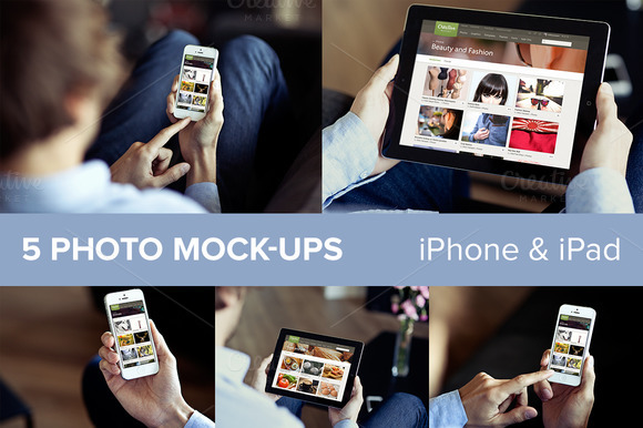 Iphone Ipad PSD Mockups