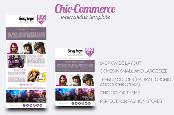 Chic Commerce E-newsletter Template