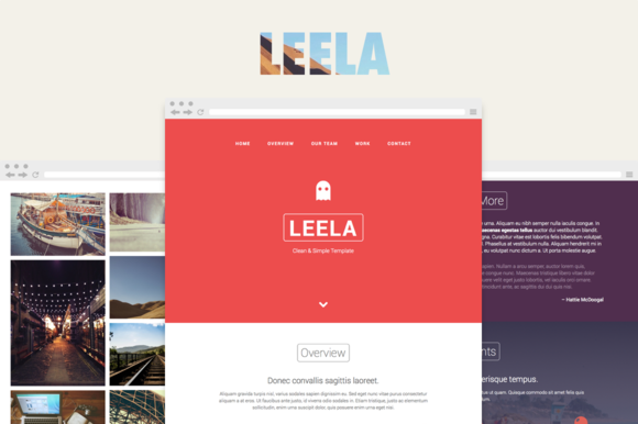 Leela One Page HTML Template