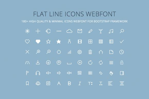 Flat Line Icons Webfont