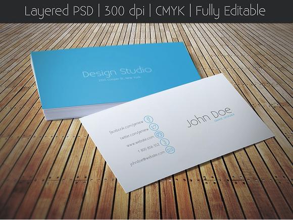 IOS 7 Style Business Card