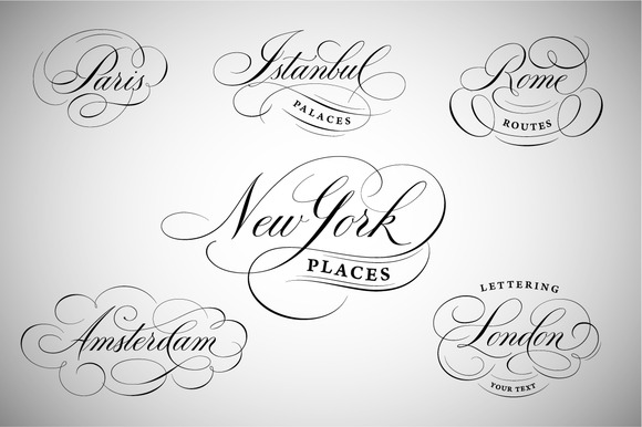 New York London Paris Etc Logos