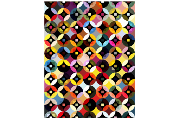 Circles And Squares Vector Pattern